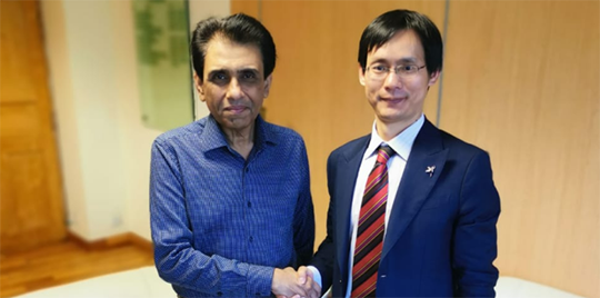 The founder and president, Mr. YU Chengwen visited Pakistan